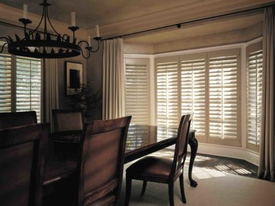 Dining Area with Window Shutters - Today's Interiors