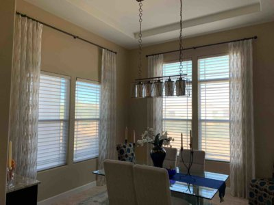 Dining Room Interior Drapes - Today's Interiors