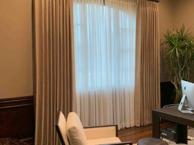 Office with Motorized Shades - Today's Interiors
