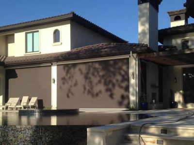 Poolside Exterior Shades - Today's Interiors