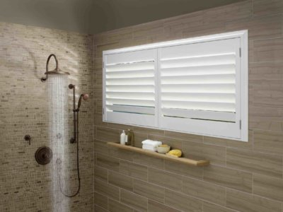Shower Vinyl Shutters - Today's Interiors